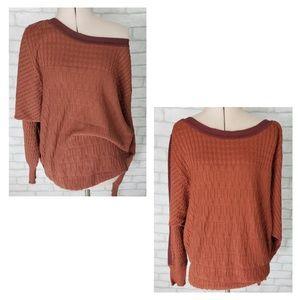 Prana Organic Cotton Cinnamon Color Sweater M